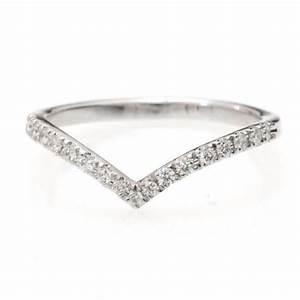 Chevron Diamond Ring Diamond V Ring With Pave Diamonds