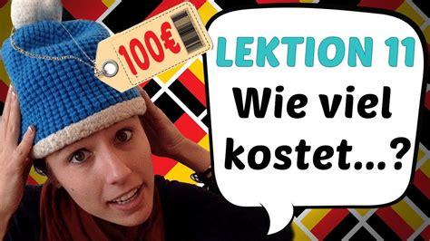 "German Lesson 11 ""how Much Is?"" In German ""wie Viel"