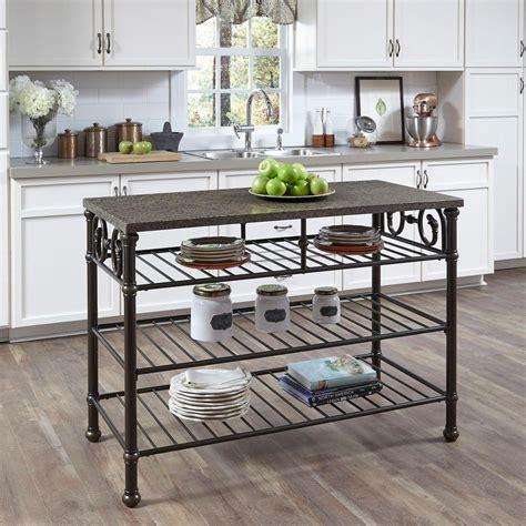 white kitchen island table home styles richmond hill cognac kitchen utility table 1388