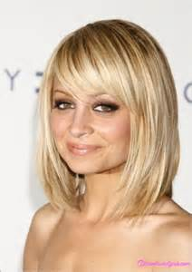 Long Bob Hairstyles with Side Swept Bangs