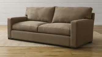axis ii 2 seater brown microfiber sofa crate and barrel