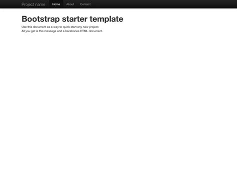 bootstrap starter template getting 183 bootstrap