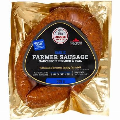 Sausage Farmer Garlic 500g Drake Categories Meats