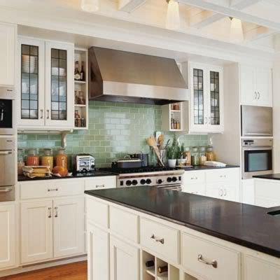 kitchen pro cabinets blue green subway tile white cabinets black countertops 2467