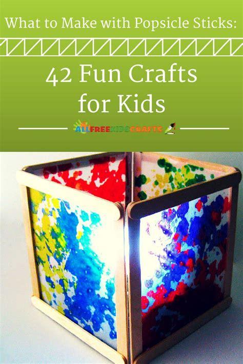 popsicle sticks  fun crafts  kids