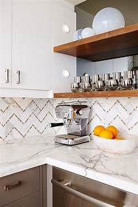 chevron tile backsplash contemporary kitchen sarah With what kind of paint to use on kitchen cabinets for chevron wood wall art