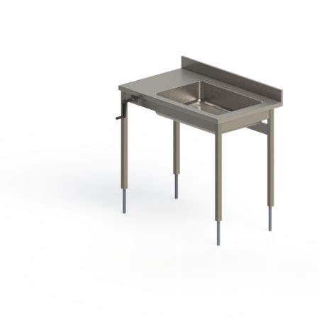 table inox d 201 boitage adoss 201 e fixe hauteur r 201 glable manuelle pieds carr 201 s sans 201 tag 200 re basse