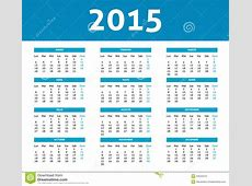 2015 Calendar In Blue Halftone Style Monday To Sunday In
