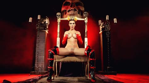 Rachel Starr Naked Devil Queen On Her Throne Sexy Fetish Style Hd Wallpaper Porno X Nude