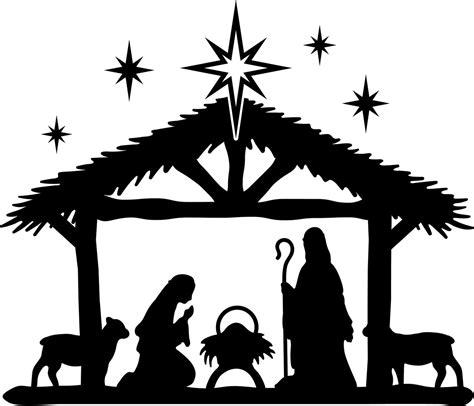 nativity scene svg cut file craftables