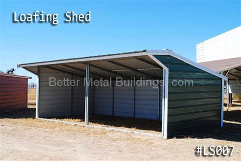 Metal Loafing Shed Kits by Loafing Sheds Carports And Custom Metal Buildings