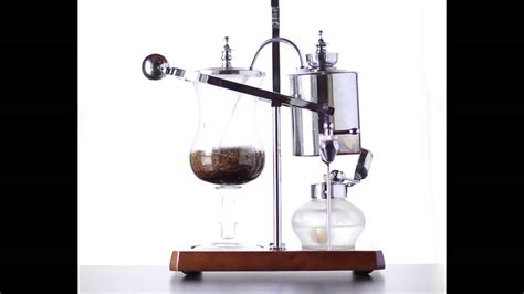 Looking for a whimsical yet scientific way to serve coffee or tea to guests with showy flair? Balance Siphon Coffee Maker Brewing Action - YouTube