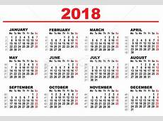 Grid calendar for 2018 vector illustration © ALEXEY