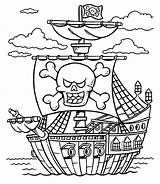 Pirate Coloring Pages Pirates Treasure Ship Chest Caribbean Printable Lego Boat Adults Line Schooner Sheet Colorings Drawing Colouring Adult Sheets sketch template