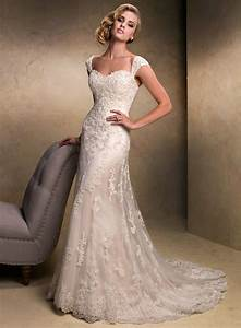 striking collections of vintage lace wedding dresses with With wedding dresses cap sleeves