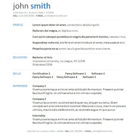 Resume Layout Word 2007 by Microsoft Word Resume Templates Free Premium