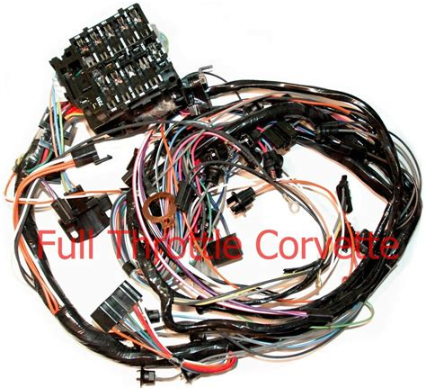 1976 corvette dash wiring harness for vettes with manual 4 sp transmission new ebay