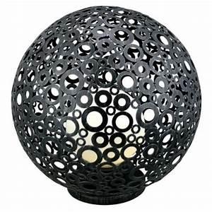 Boule Led Exterieur : luminaire ext rieur boule d corative patin e diam 45cm achat vente luminaire ext rieur boule ~ Teatrodelosmanantiales.com Idées de Décoration
