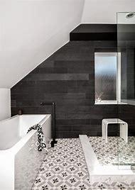 Black and White Bathroom Wall Tile