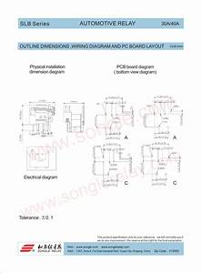 Slb  Series  Automotive  Relay  30a  40a  Outline