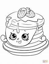 Coloring Pancake Shopkin Pages Strawberry Ultra Rare Printable Drawing Paper sketch template