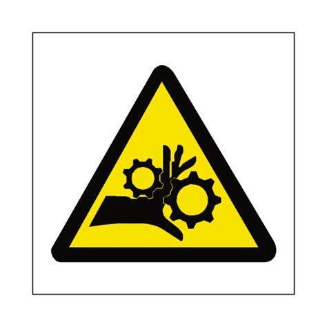Safety Labels machinery crush label