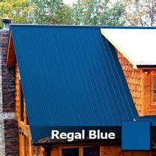 blue tinmetal roof pictured  cedar siding