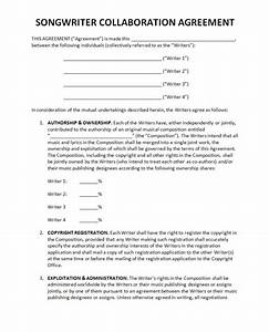 collaboration agreement template with sample partnership With collaboration contract template