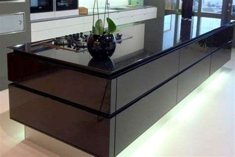 display black lacquer high gloss leicht kitchen