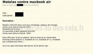 Bon Coin Matelas : matelas contre macbook perles du bon coin ~ Teatrodelosmanantiales.com Idées de Décoration