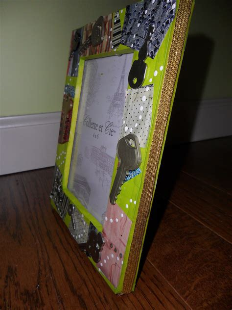 semi homemade picture frame  photo holder art