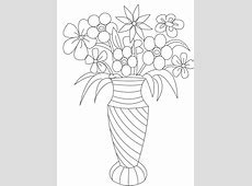 Vase and Flower Template Blank Loving Printable