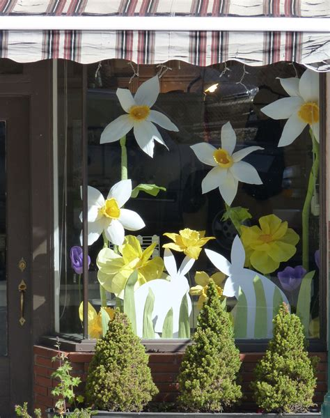 Easter Window Display Emily Garden With Paper Flowers