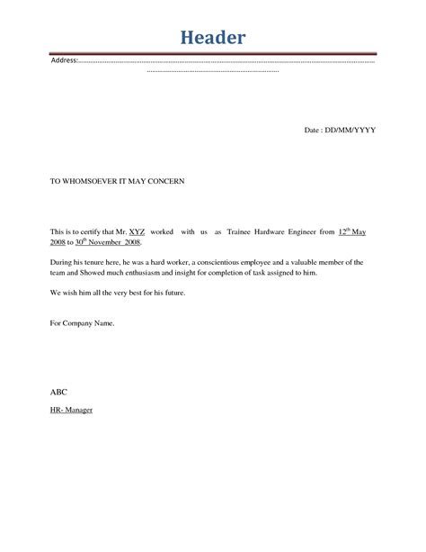 letter of separation employment separation letter template letters free