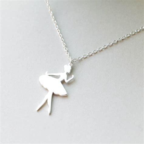 sterling silver ballerina necklace  attic