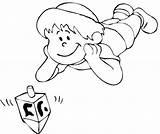 Dreidel Coloring Pages Hanukkah Disney Getcolorings sketch template
