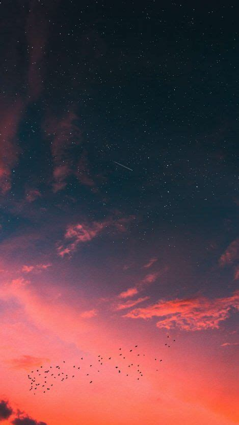 Beautiful Open Space With A Simple Aesthetic And Lasting Quality by Sunset Sky Clouds Meteor Of Space Iphone Wallpaper