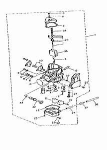 32 Yamaha Big Bear 350 Carburetor Diagram