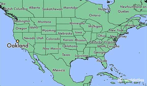 oakland ca oakland california map