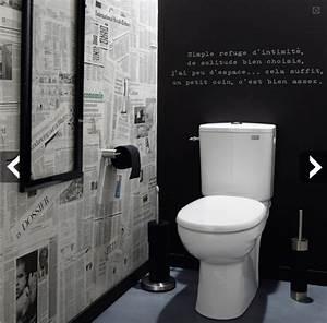 Papier Peint Pour Wc : deco toilette id e et tendance pour des wc zen ou pop ~ Nature-et-papiers.com Idées de Décoration