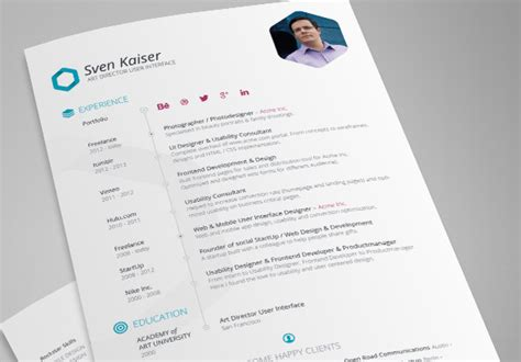 Free Creative Resume Templates Indesign by 30 Best Free Resume Templates In Psd Ai Word Docx