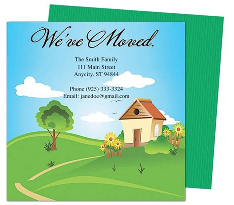 we moved cards template moving announcements house moving just moved
