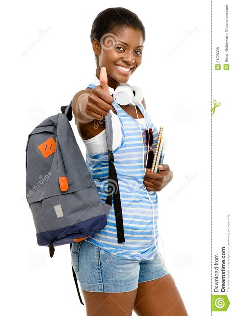 successful american student going back to school i royalty free stock