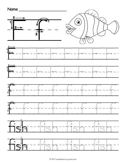 free printable tracing letter f worksheet tracing