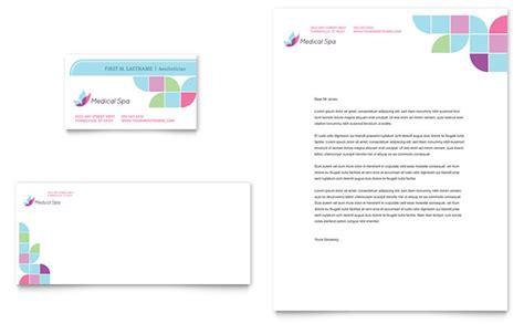 medical spa business card letterhead template design