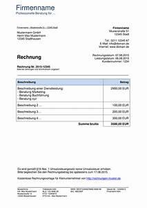 Was Muss Auf Einer Rechnung Stehen : kleinunternehmer rechnung rechnungsvorlagen f r kleinunternehmer ~ Themetempest.com Abrechnung