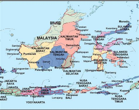 indonesia political map eps illustrator map vector