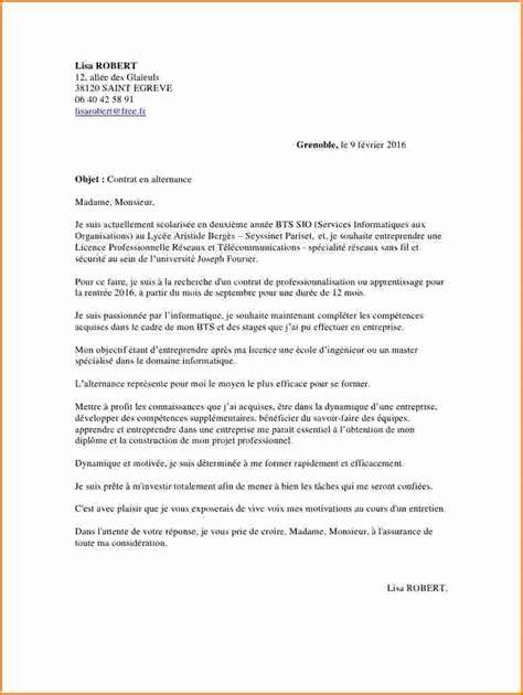 contrat de professionnalisation cuisine pdf lettre de motivation contrat de professionnalisation