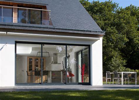 prix baie vitrée coulissante 3m baie coulissante aluminium techniques stores