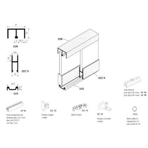rail et accessoires pour vitrine coulissants glissi 232 res ferrures de meubles et agencement